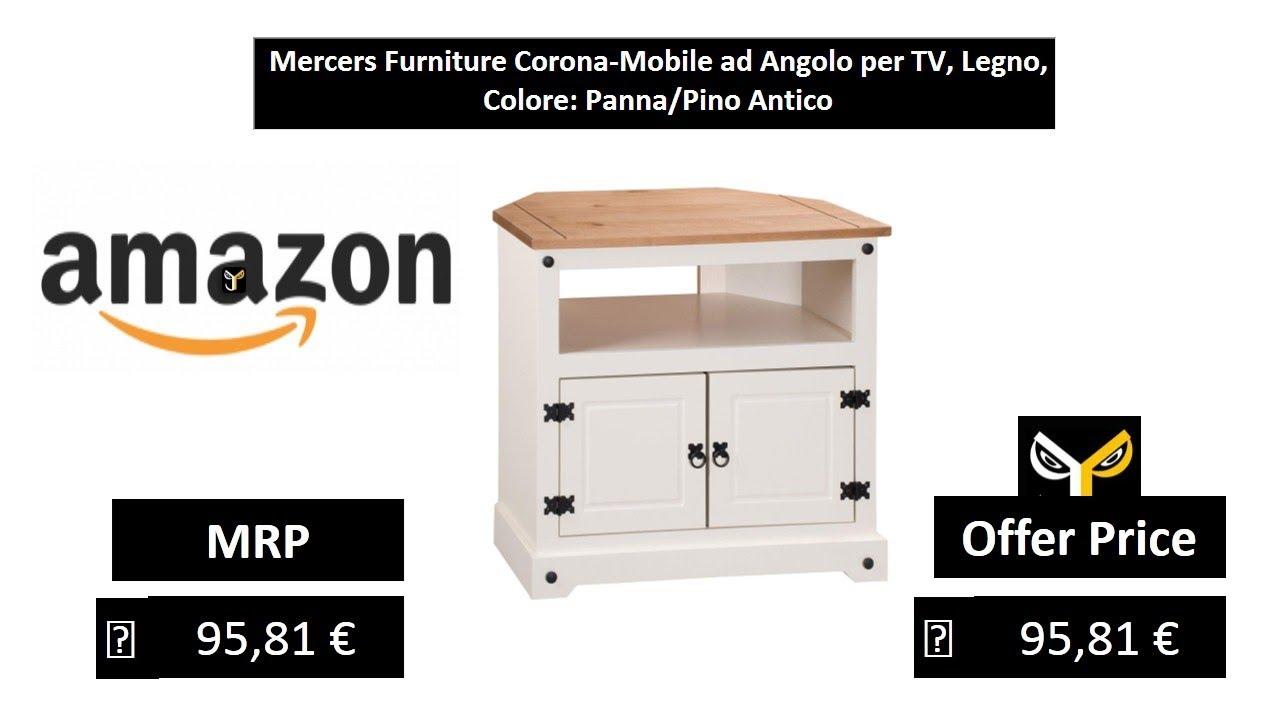 Mobile Ad Angolo Legno.Mercers Furniture Corona Mobile Ad Angolo Per Tv Legno Colore
