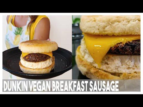 Homemade Dunkin Donuts Beyond Sausage Sandwich Recipe+ DIY Vegan Breakfast Sandwich