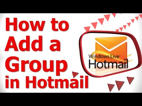 How to Add a Group in Hotmail