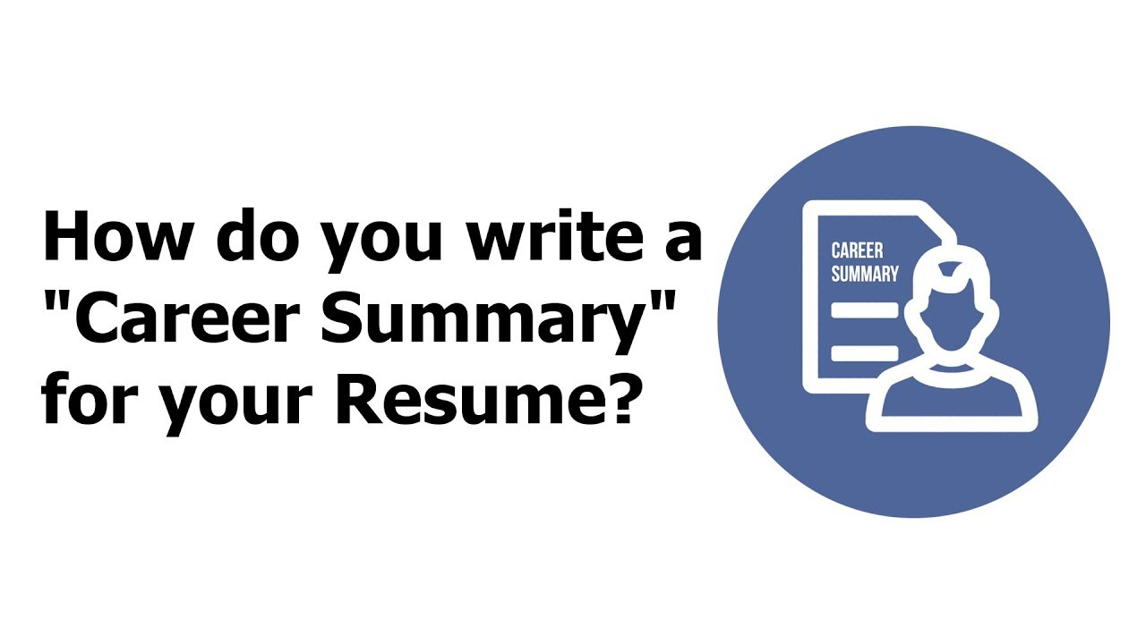 How To Do A Summary On A Resume how to do a summary for a resume summary of resume resume summary statement examples summary How Do You Write A Career Summary For Your Resume