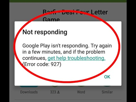 Image result for Play error code 927