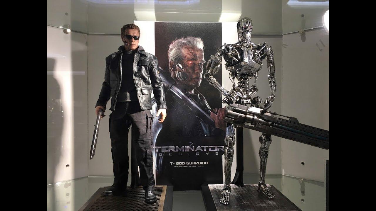 Custom Terminator genisys battle damage white hair T800 head sculpt in stock