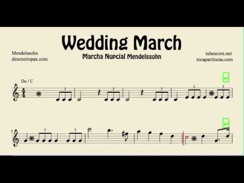 Wedding March Mendelssohn Sheet Music for Flute Violin and Oboe