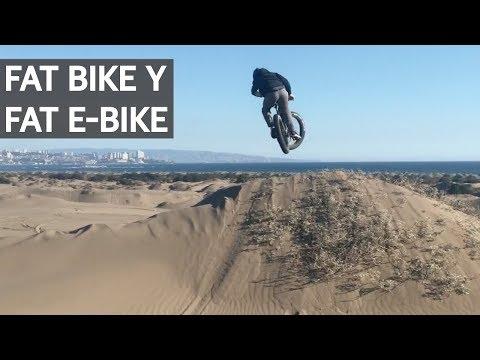 Fat Bikes con la Vale en las Dunas! Gorda Eléctrica y Gorda en Oferta!