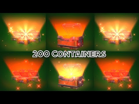 Tanki Online - MEGA Container Opening - 200 Containers! 3 Lucky Exotic Containers + Legendary!