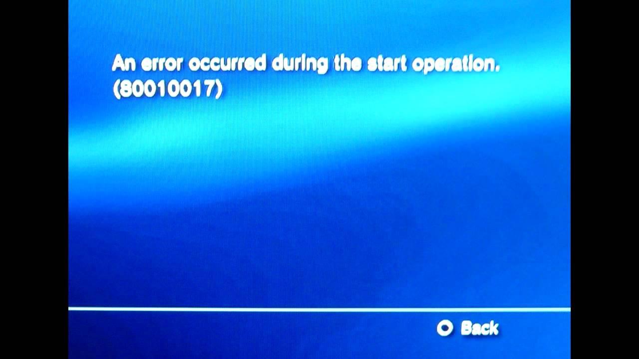 Error code 80010017 PS3 cobra ode OFW 4.55 - YouTube