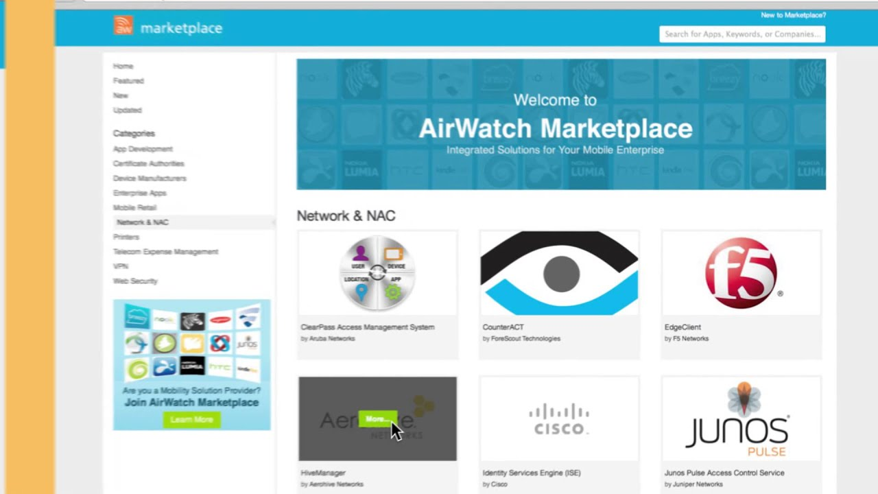 AirWatch Marketplace