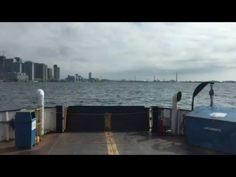 Delivering a Junk Removal Bin on Toronto Island