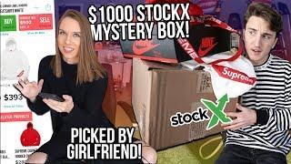 $1000 STOCKX MYSTERY BOX! MADE BY GIRLFRIEND!