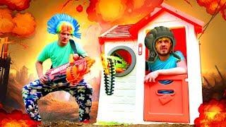 Смешные видео игры - Танки для Нерферов – Нерф игрушки для мальчиков.
