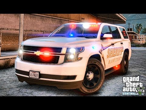 GTA 5 MODS LSPDFR 1061 - K9 SLICKTOP TAHOE PATROL!!! (GTA 5 REAL LIFE PC MOD)