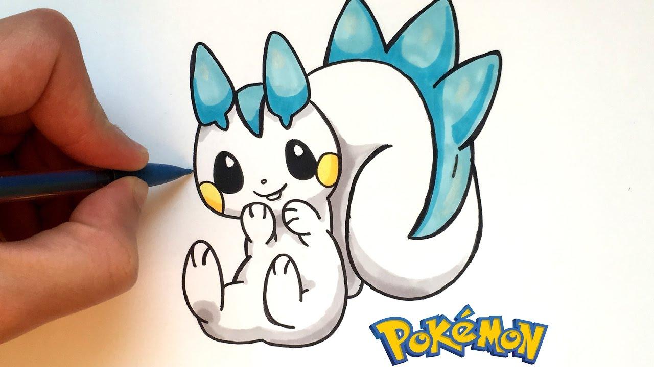 Dessin pachirisu kawaii pok mon youtube - Dessin pokemon facile ...