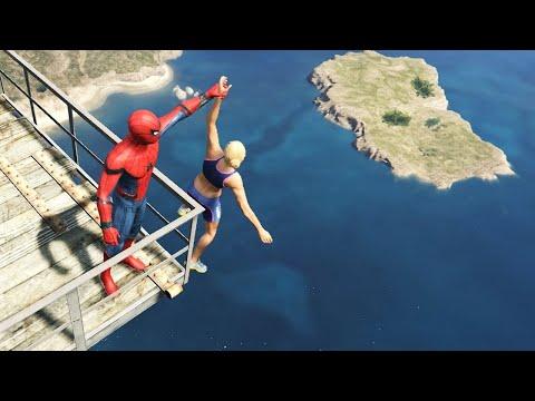 GTA 5 Crazy Ragdolls   Spider-Man Ep.53 (Funny Moments)