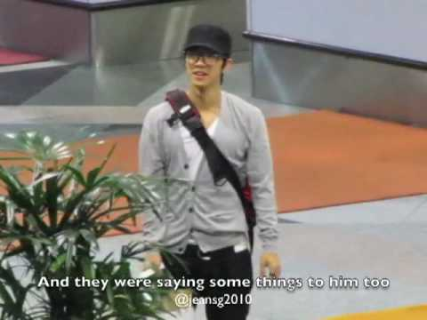 [FANCAM] BEAST KIKWANG LEAVING KLIA 27.06.2010