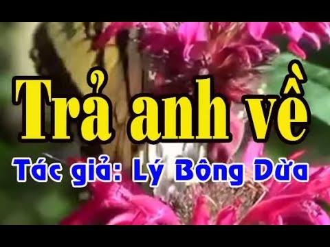 Karaoke vọng cổ TRẢ ANH VỀ - ĐÀO [T/g Lý Bông Dừa]