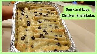 How to make Quick and Easy Chicken Enchiladas in green sauce!
