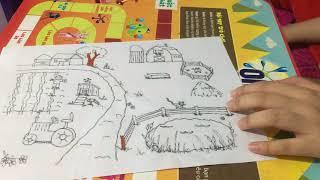Dạy cách tô màu bức tranh về phong cảnh làng quê