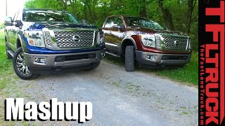 Gas vs Diesel:  2016 Nissan Titan XD Diesel vs 5.6L Gas Engine Mashup Review