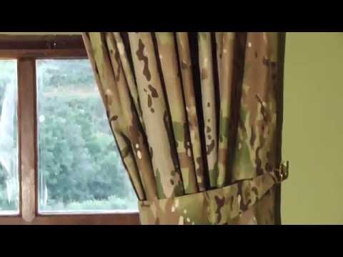 "Army Curtains In Multi Terrain Camouflage 66""x72"" Drop"
