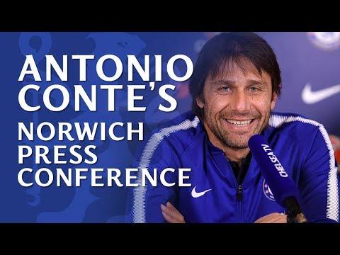 Antonio Conte Press Conference   Norwich v Chelsea