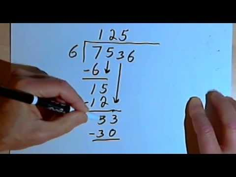 Long Division - Dividing By A 1-digit Number 127-2.10