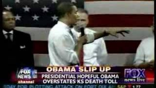 Obama: 10,000 dead from tornado in Kansas, give or take 9,98