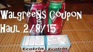 Walgreens Coupon Haul 2/8/15 ~ FREE Ecotrin & Mountain Dew