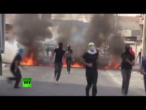 Bahréin: Manifestantes lanzan