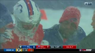 Nathan Peterman Gets Leveled in the Snow | Colts vs. Bills | NFL