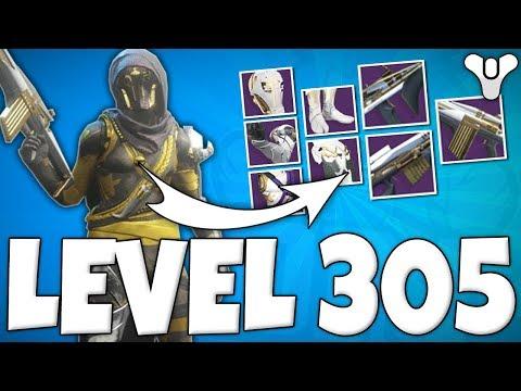 Destiny 2 - BEST HUNTER EVER? - Power Level 305 - FULL RAID GEAR - Tips On Getting Power Level 305