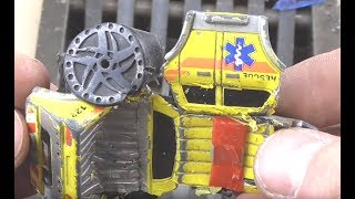Experiment Shredding Crushed by Hydraulic Press Metal Toy Cars