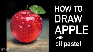 Oil pastel drawing_Apple 오일파스텔…
