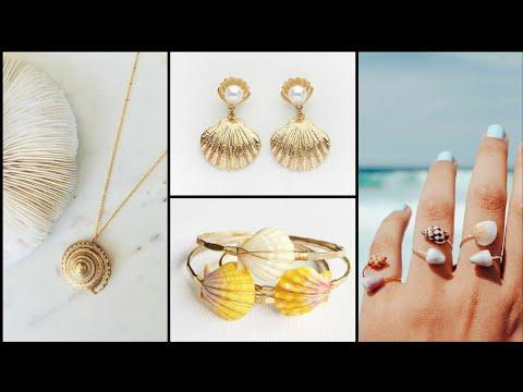 DIY handmade sea shell jewelry ideas   Amazing Craft Ideas   easy handmade jewellery at home