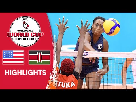 USA vs. KENYA - Highlights | Women's Volleyball World Cup 2019