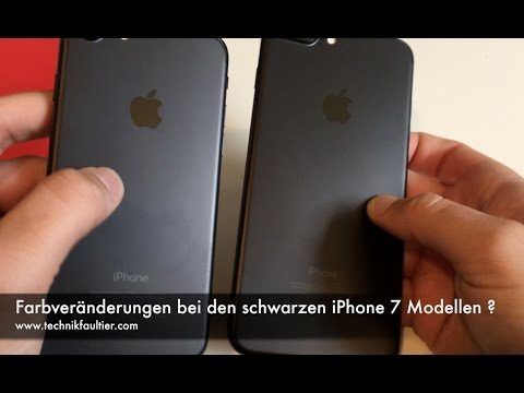 schwarze iphone 7 mit farbver nderungen meine nicht. Black Bedroom Furniture Sets. Home Design Ideas