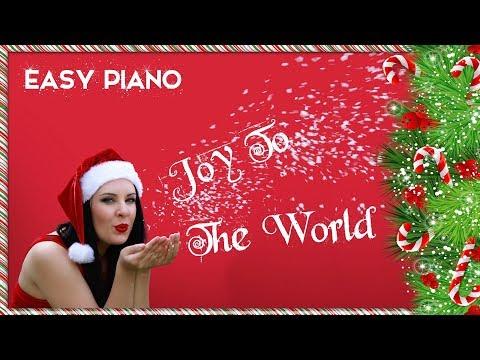 JOY TO THE WORLD | EASY PIANO TUTORIAL & SHEET MUSIC | Christmas & Holidays