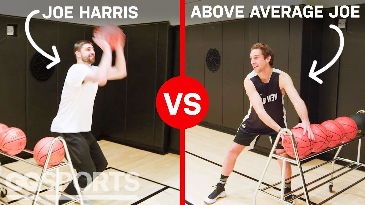 Can an Average Guy Beat NBA Star Joe Harris in a 3-Point Contest? | Above Average Joe | GQ Sports