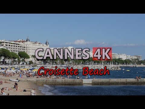 Ultra HD 4K Cannes Travel Croisette Beach Tourism French Riviera Cote d'Azur UHD Video Stock Footage