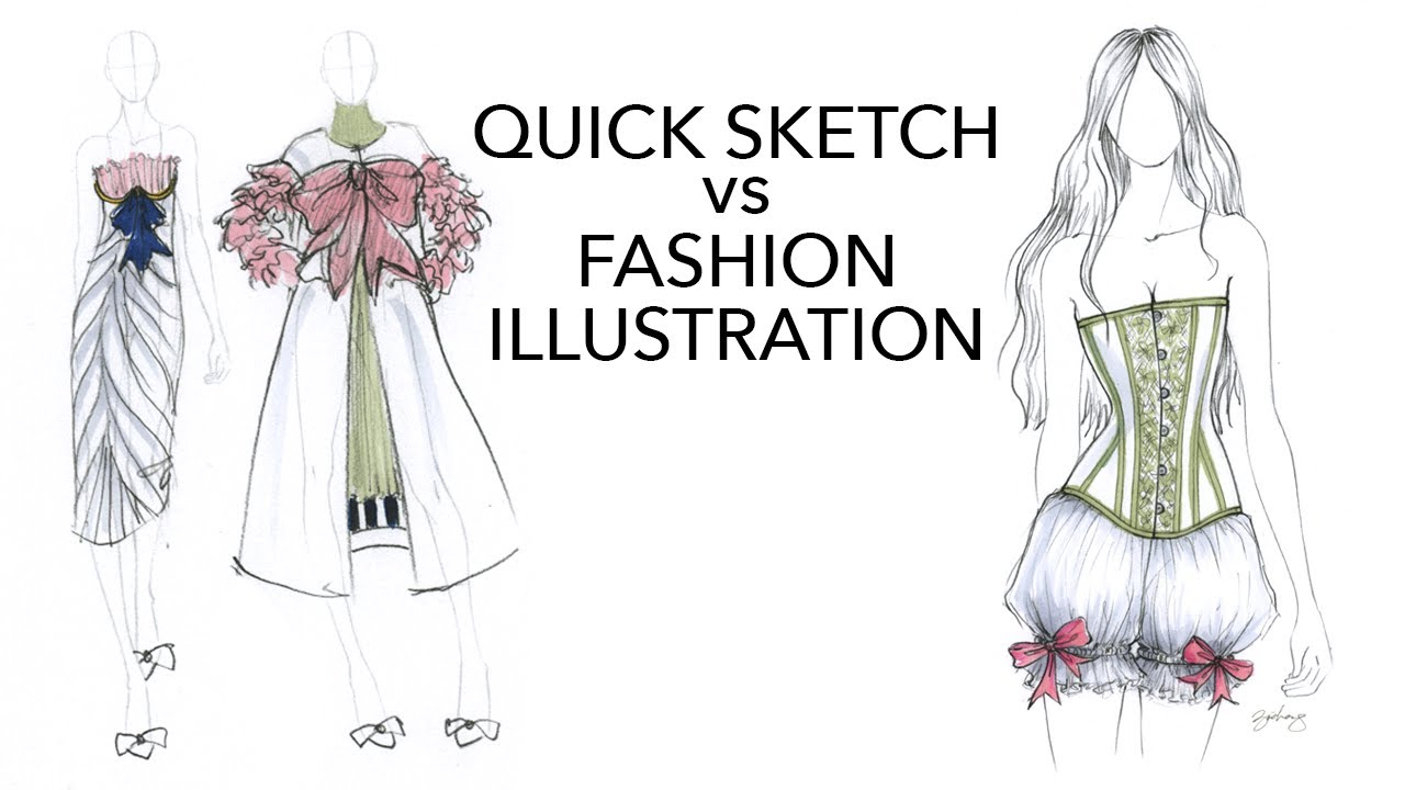 Quick Design Sketch Vs Fashion Illustration Youtube