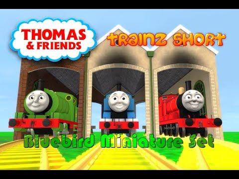 Thomas & Friends - Trainz Short - Bluebird Miniature Trainz Set - Trainz: A  New Era Video