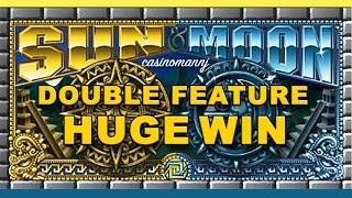 MAX! - Sun and Moon Slot **DOUBLE FEATURE** HUGE WIN!! - Slot Machine Bonus