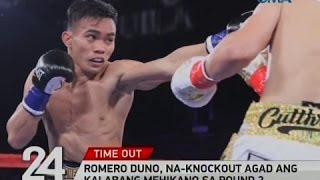 24 Oras: Romero Duno, na-knockout agad ang kalabang Mehikano sa round 2