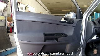 Volkswagen Polo  2002–2009 door panel removal