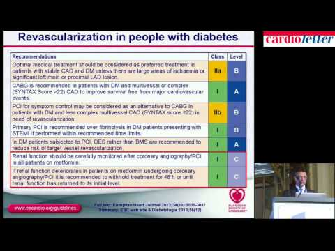 Marco Roffi, Genève: Diabetes, pre-diabetes and cardiovascular diseases developed with the EASD