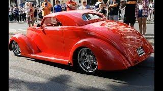American Muscle & Custom Cars Leaving Worthing Car Show