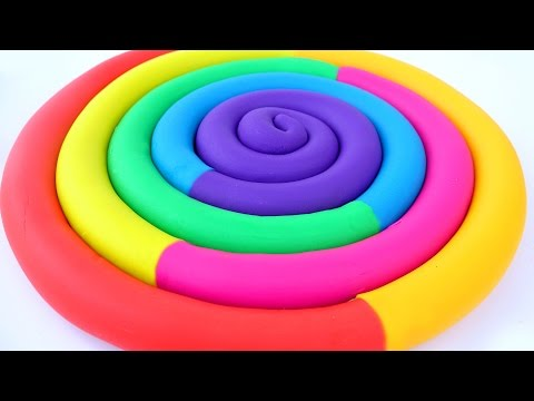 Best Learning Colors Play Doh Ice Cream Popsicles Slime Toilet Jelly Cake Slime Modelling Clay