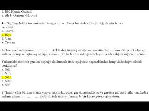download Tasavvuf [1-7] Üniteleri Değerlendirme Soruları Çözümü