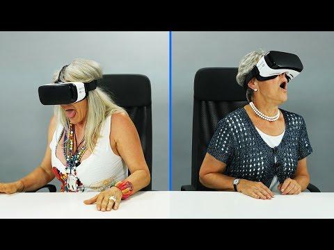 Großeltern probieren zum Ersten Mal eine VR BRILLE aus!