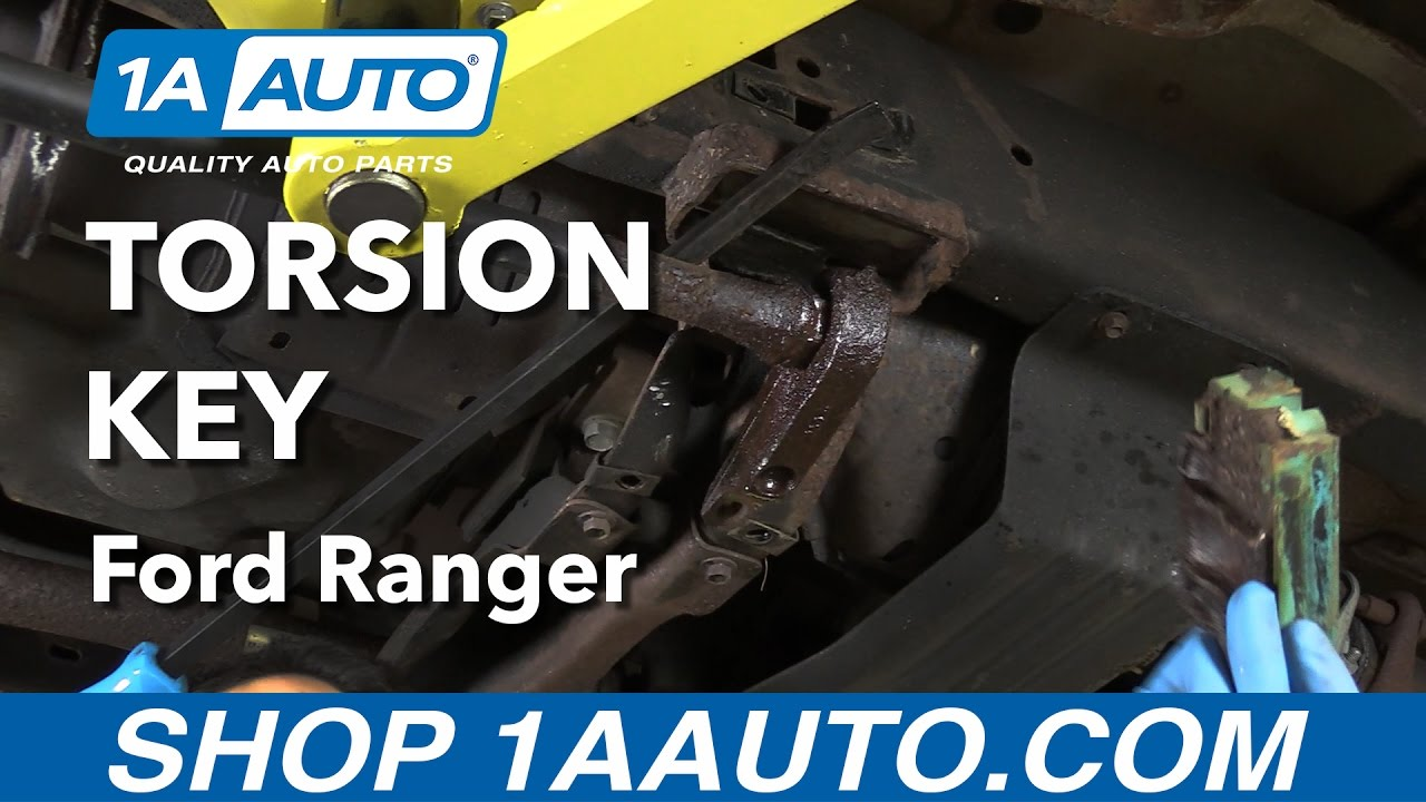 How To Replace Torsion Key 98 12 Ford Ranger Youtube 2000 4x4 3 0 Gages Wireing Harness Connector Diagram