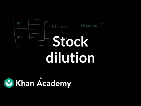 Stock dilution | Stocks and bonds | Finance & Capital Markets | Khan Academy